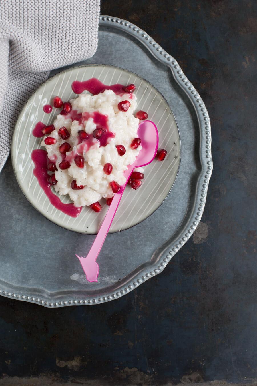 Milchreis mit Granatapfel