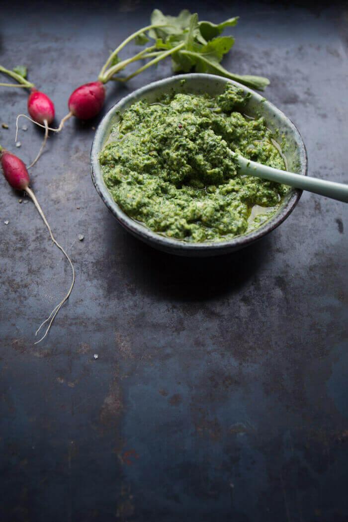 Radieschenblatt-Pesto