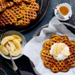 Pumpkin-Cinnamon-Waffles on a plate
