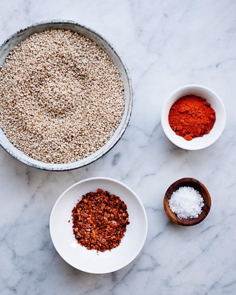 Zutaten Spicy Gomasio